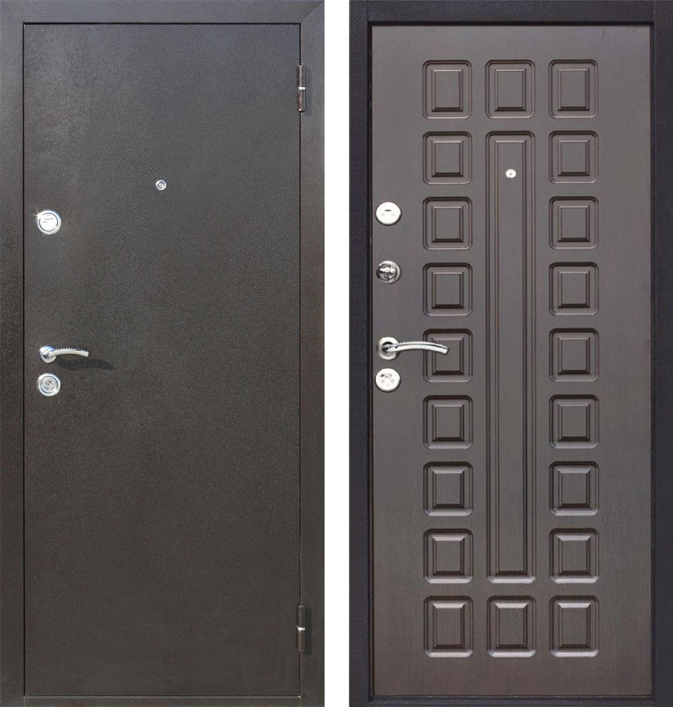 Двери металлические цвет венге