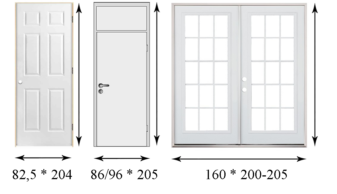 Размер входной двери width=
